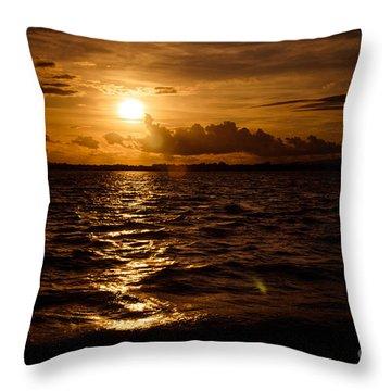 Sunset Over The Cunnigar Throw Pillow