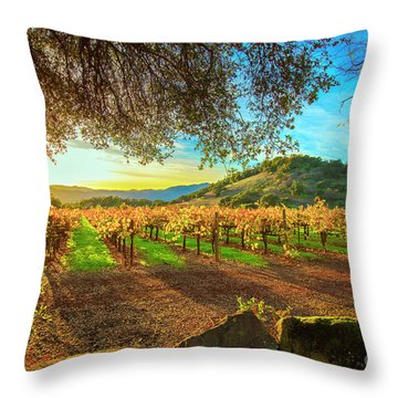 Sunset Over Napa  Throw Pillow