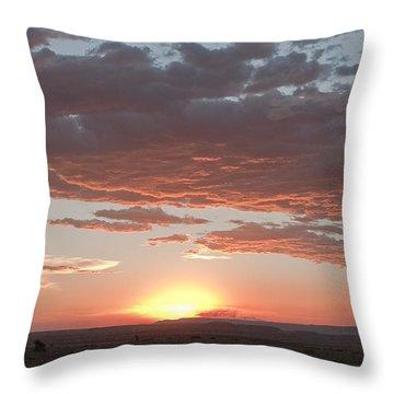Sunset Over The Mara Throw Pillow