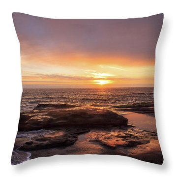 Throw Pillow featuring the photograph Sunset Over The Ocean by Tyra OBryant