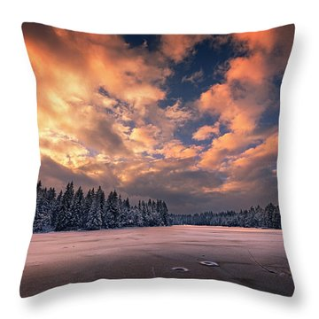 Sunset Over The Pound Throw Pillow