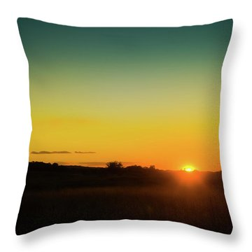 Sunset Over The Prairie Throw Pillow