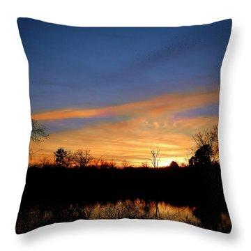 Sunset Over The Sabine 02 Throw Pillow
