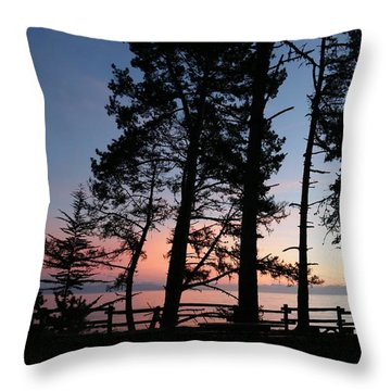 Throw Pillow featuring the photograph Sunset Over The Sea  by Christy Pooschke