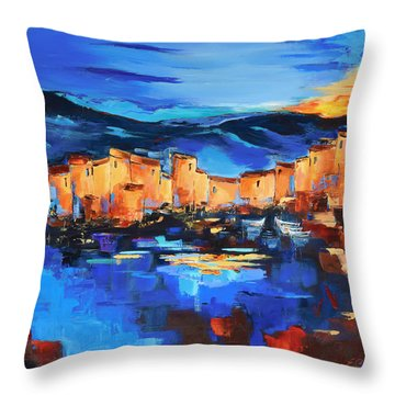 Sunset Over The Village 2 By Elise Palmigiani Throw Pillow