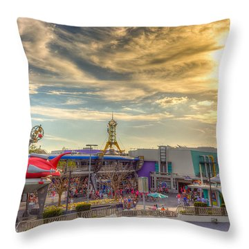 Sunset Over Tomorrowland Throw Pillow