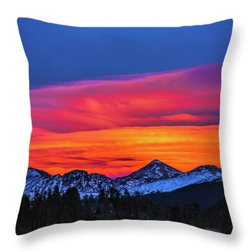 Sunset Over Torreys And Grays Peaks Throw Pillow
