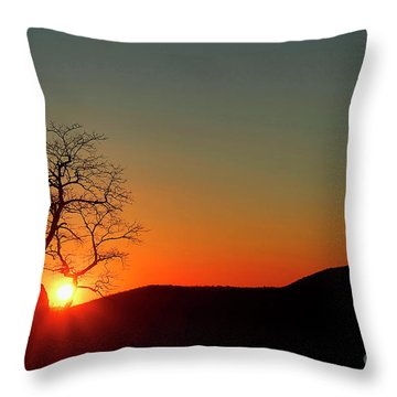 Throw Pillow featuring the photograph Sunset Over Virginia by Darren Fisher