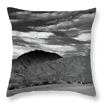 Sunset Over Yuma Mountain Throw Pillow