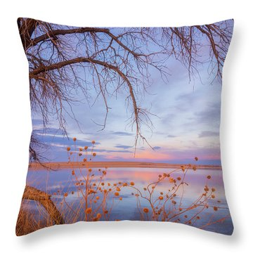 Throw Pillow featuring the photograph Sunset Overhang by Darren White