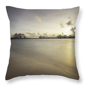 Sunset Paradise Throw Pillow