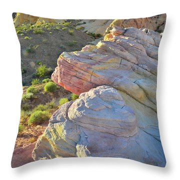 Sunset Pastels In Valley Of Fire Throw Pillow