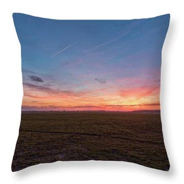 Sunset Pastures Throw Pillow