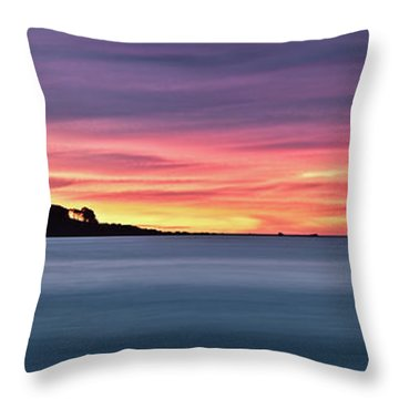 Sunset Penisular, Bunker Bay Throw Pillow by Dave Catley