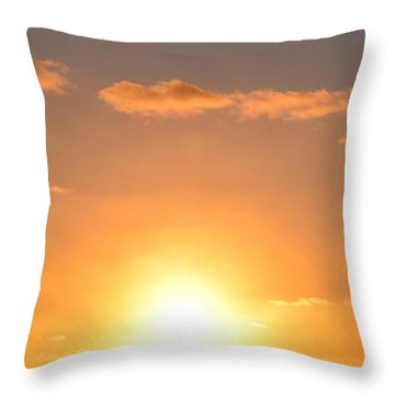 Sunset People In Imperial Beach Throw Pillow