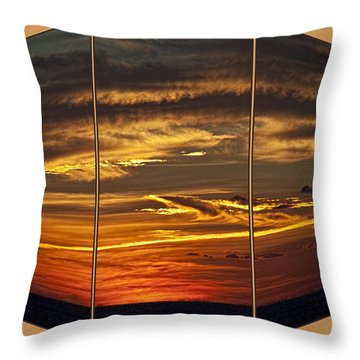Throw Pillow featuring the photograph Sunset Perspective by Shirley Mangini