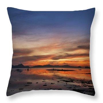 Sunset Pi Throw Pillow