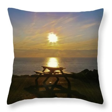 Sunset Picnic Throw Pillow by Terri Waters