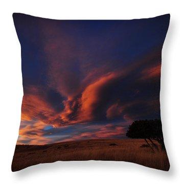 Sunset Plains Throw Pillow