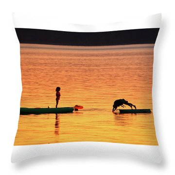 Sunset Play Throw Pillow by Rick Lawler