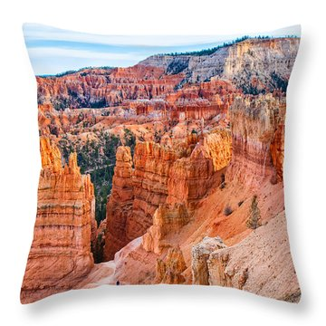 Throw Pillow featuring the photograph Sunset Point Tableau by John M Bailey