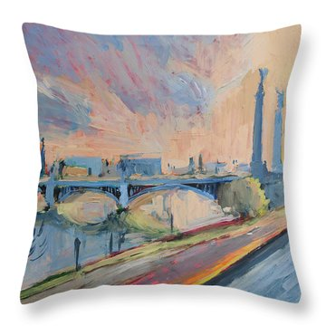 Sunset Pont Fragnee Throw Pillow