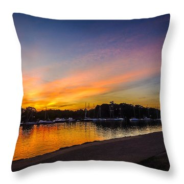 Sunset Promenade Throw Pillow by Glenn Feron