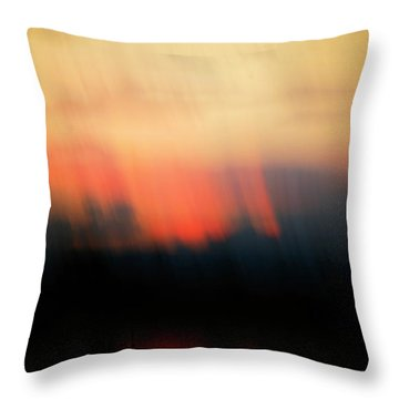 Throw Pillow featuring the photograph Sunset Raining Down by Marilyn Hunt