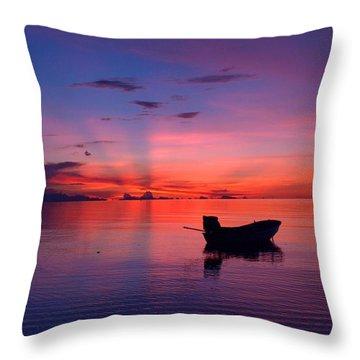 Sunset Rays Throw Pillow