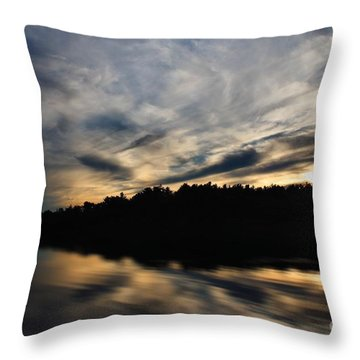 Throw Pillow featuring the photograph Sunset Reflection by Kenny Glotfelty