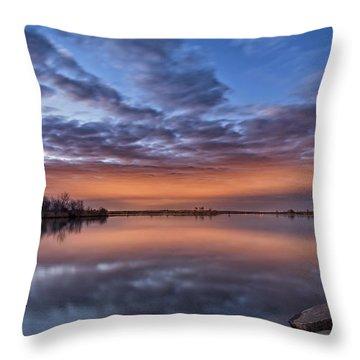 Sunset Reflection Throw Pillow