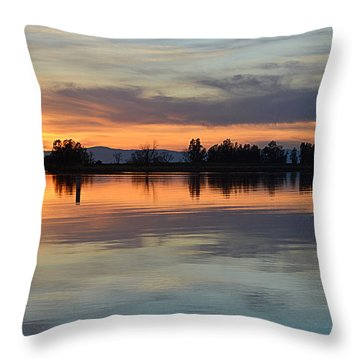 Sunset Reflections Throw Pillow