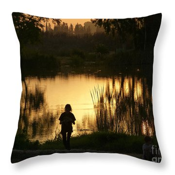 Sunset Reflections Throw Pillow by Arik Baltinester