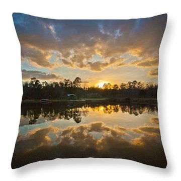 Sunset Reflections Throw Pillow by Linda Unger