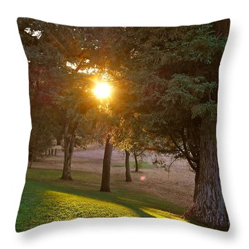 Sunset Retreat Throw Pillow by Michele Myers