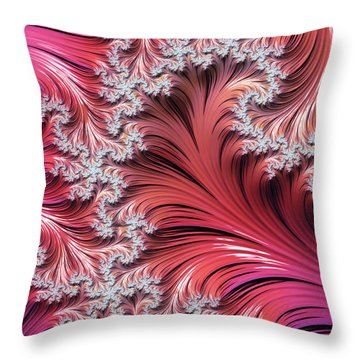Sunset Romance Abstract Throw Pillow