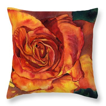 Sunset Rose Throw Pillow by Leslie Redhead