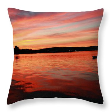 Sunset Row Throw Pillow