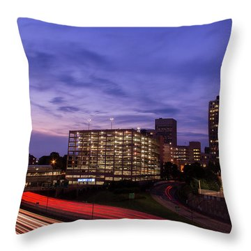 Sunset Rush Throw Pillow