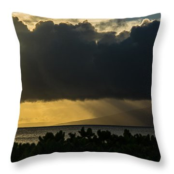 Throw Pillow featuring the photograph Sunset Sail by Colleen Coccia