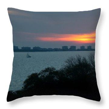 Sunset Sail On Sarasota Bay Throw Pillow