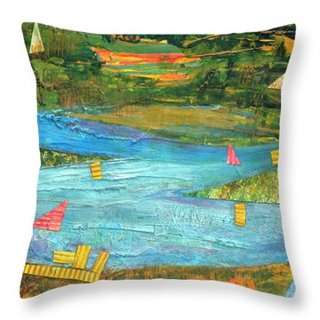 Sunset Sails 2 Throw Pillow