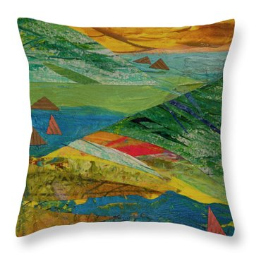 Sunset Sails 3 Throw Pillow