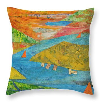 Sunset Sails 1 Throw Pillow