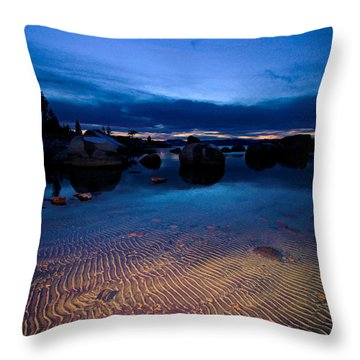 Sunset Sand Ripples Throw Pillow by Sean Sarsfield