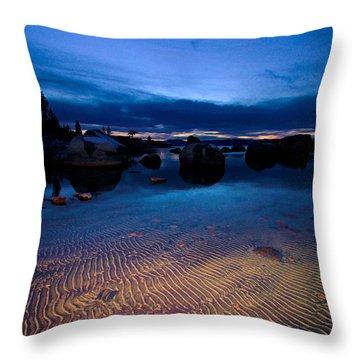 Sunset Sand Ripples Throw Pillow