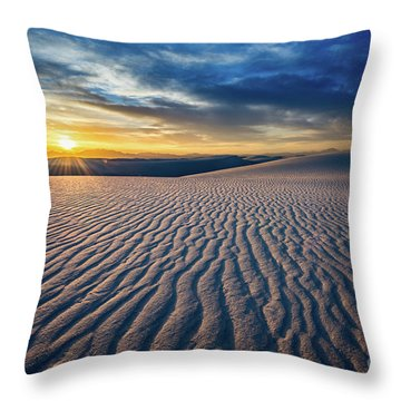 Sunset Sands Throw Pillow