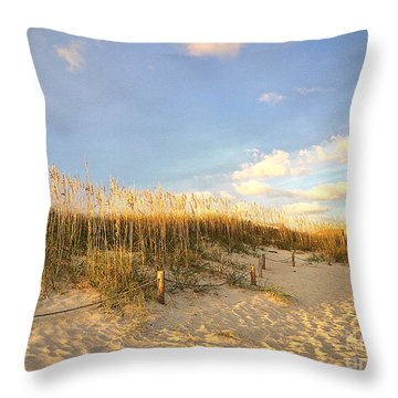 Sunset Sea Oats Throw Pillow