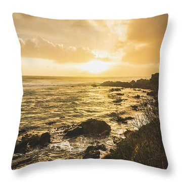 Trial Harbour Throw Pillows