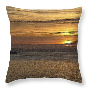 Sunset Serenade Throw Pillow by Tim Allen
